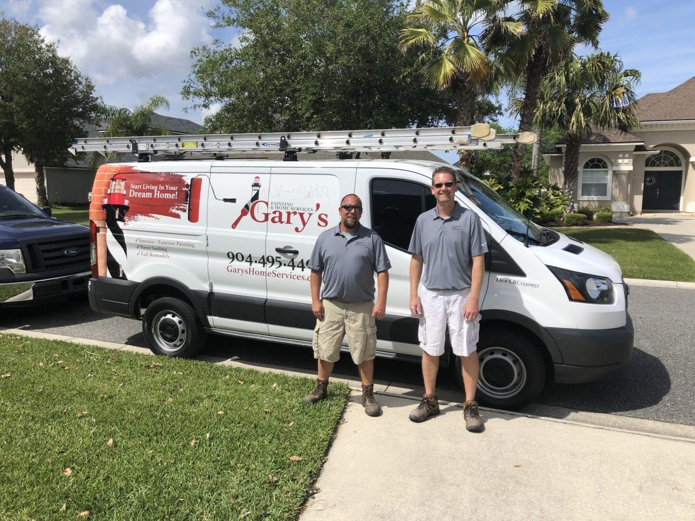 Residential Contractors in front of painting van