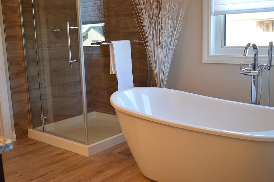 bathtub shower bathroom bath bathing home house room washing - Which Bathroom Upgrades Can Increase Your Home's Value the Most?